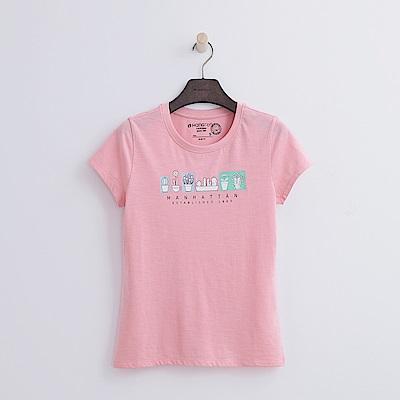 Hang Ten - 女裝 - 有機棉 手繪盆栽T恤-粉紅色
