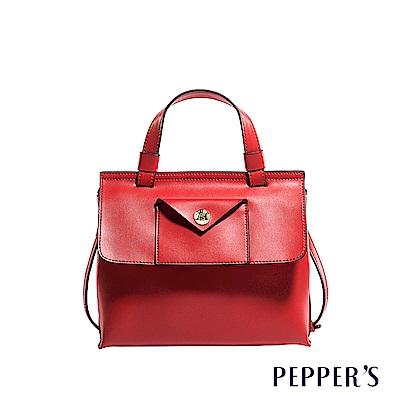 PEPPER`S Aurora 牛皮斜背包 - 櫻桃紅