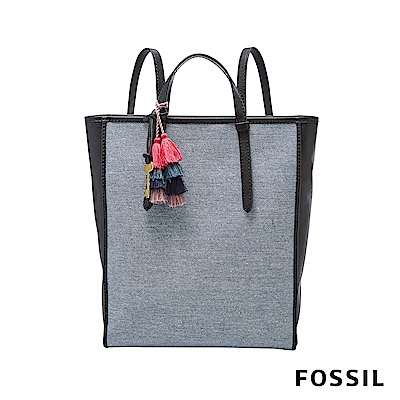 FOSSIL  CAMILLA 琴譜背包-單寧藍(可手提)