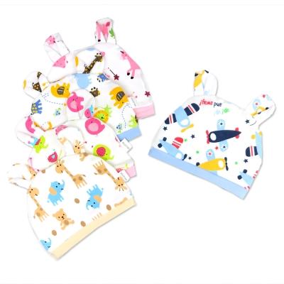 嬰兒純棉 可愛兔耳 嬰兒帽-6款可選(三入組)
