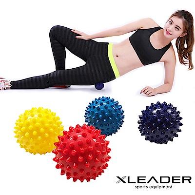 Leader X 深層筋絡紓壓 硬式刺蝟按摩球 筋膜球2入 顏色隨機 - 急