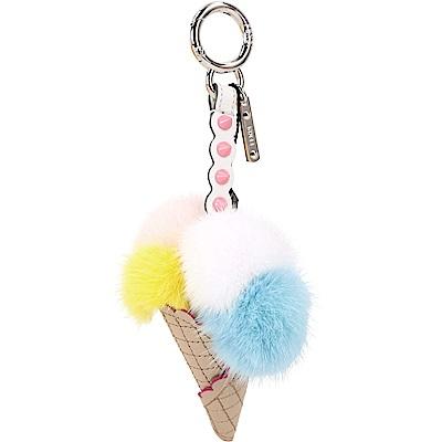 FENDI ICE CREAM CHARM 冰淇淋貂毛球吊飾