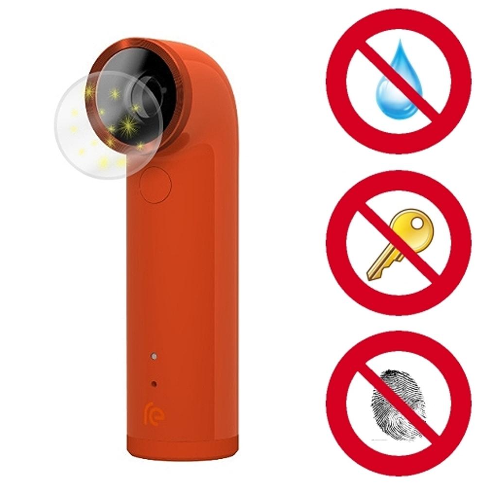 D&A HTC RE 專用日本NEW AS玻璃奈米5H 鏡頭保護貼(超值2入)