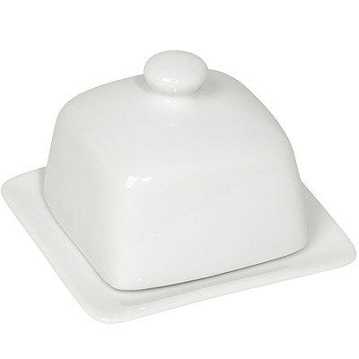 NOW 立方附蓋奶油盤(白)