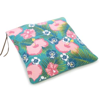 Kitson 南洋風印花帆布手拿包(綠)