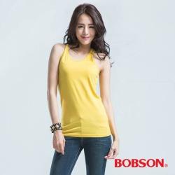 BOBSON 女款燙鑽黃色背心