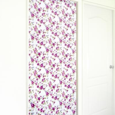 布安於室-花開富貴遮光風水簾-紫花