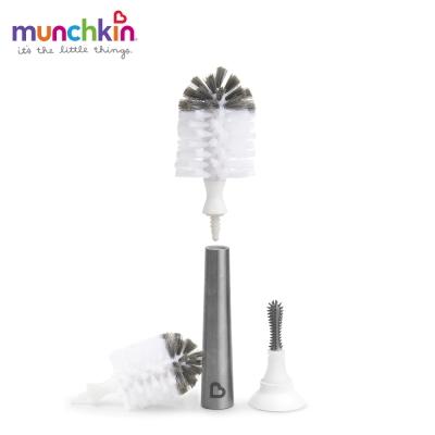 munchkin滿趣健-不鏽鋼奶瓶奶嘴刷+替換刷頭