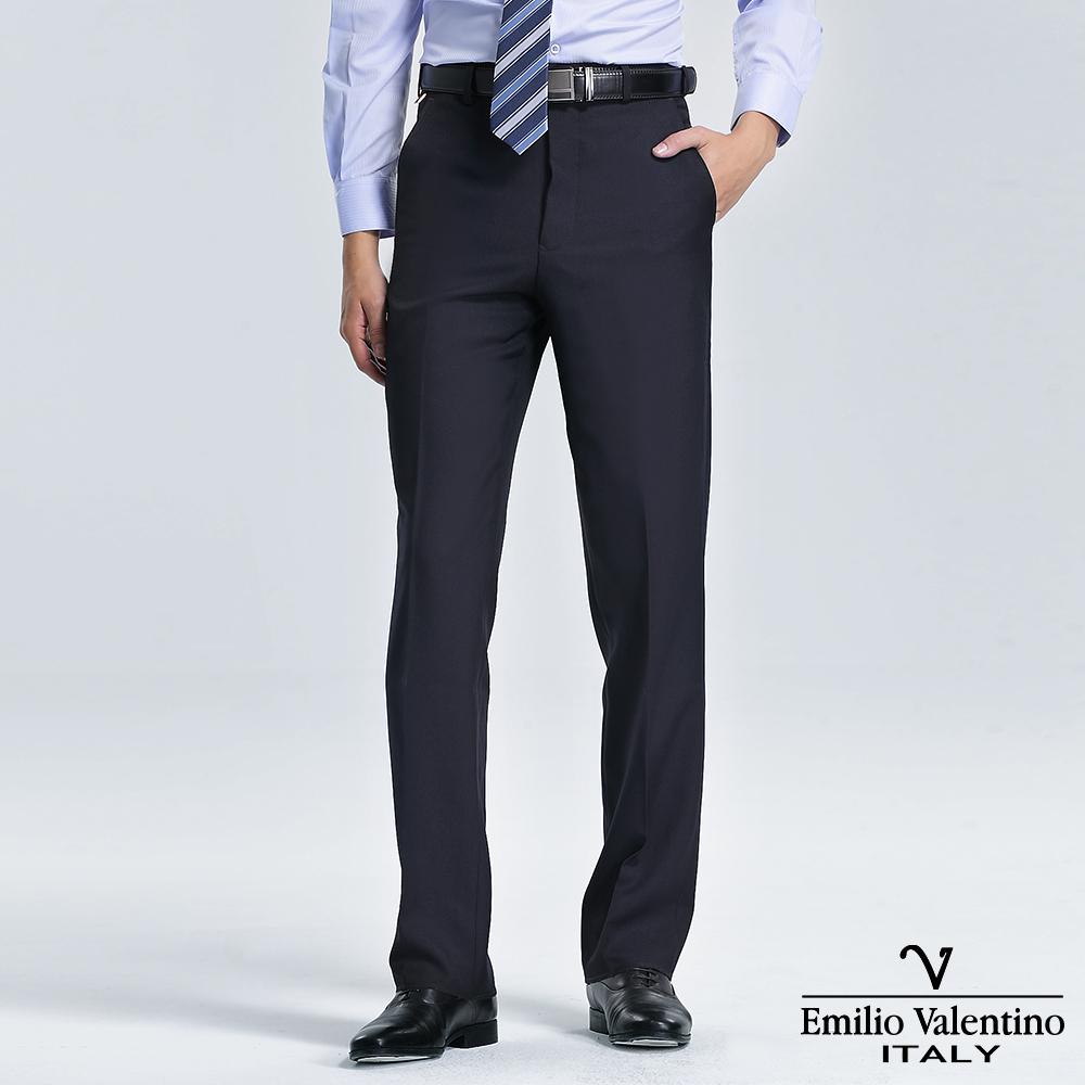 Emilio Valentino 范倫提諾高級平面西褲-丈青