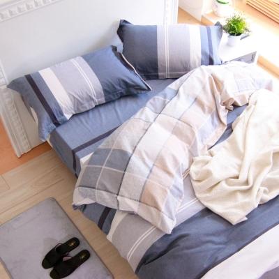 鴻宇HongYew 100%純棉 薩德克 雙人床包枕套三件組