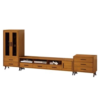 品家居 特伊10尺木紋L櫃  展示櫃 長櫃 ~303x40x134cm~免組