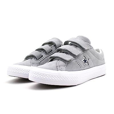 CONVERSE-中大童鞋660008C-淺灰