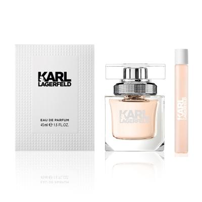 KARL LAGERFELD 卡爾同名時尚女性淡香精45ml(贈同名淡香水筆10ml)