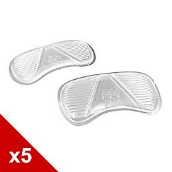 糊塗鞋匠 優質鞋材 F22 4mm矽膠條紋後跟貼 (5雙/組)