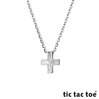 tic tac toe 貝殼十字架白鋼女項鍊
