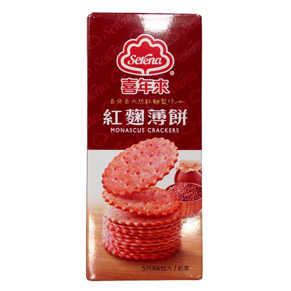 喜年來  紅麴薄餅(120gx6盒)