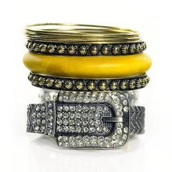 Aimee Toff  華麗錶帶古董多層次手環(灰)