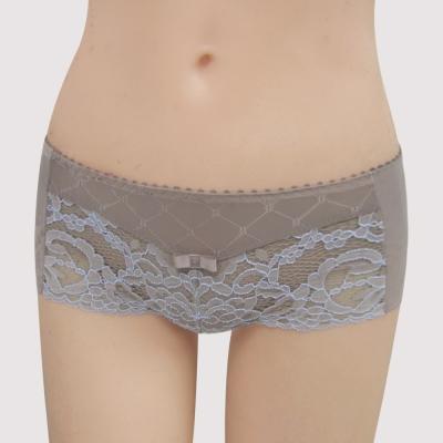 曼黛瑪璉-雙弧絲蛋白  低腰平口無痕褲(粉彩灰)