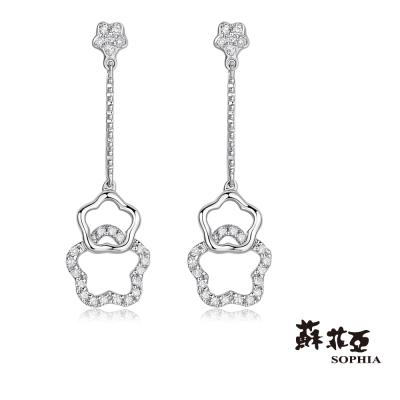 蘇菲亞SOPHIA 鑽石耳環 - 星光熠熠垂墜式鑽石耳環