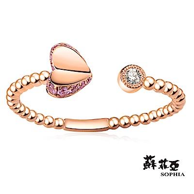 蘇菲亞SOPHIA - Romantic系列 愛心碧璽可調式鑽戒
