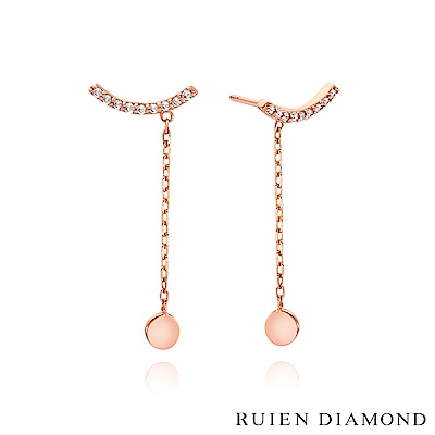 RUIEN DIAMOND 韓國輕珠寶 飾品 配件14K玫瑰金 耳環 LE131