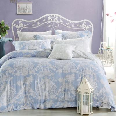 Ania Casa 浪漫華爾曼 原廠天絲 採用3M吸溼排汗專利-雙人鋪棉兩用被床包組