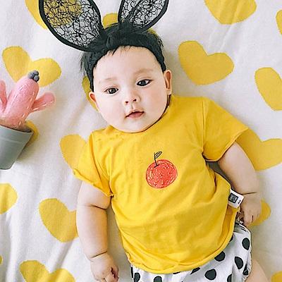 Baby unicorn 黃色蘋果捲邊短袖上衣