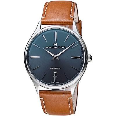 Hamilton漢米爾頓紐約星嵐系列極簡時尚機械腕錶(H38525541)-40mm/藍