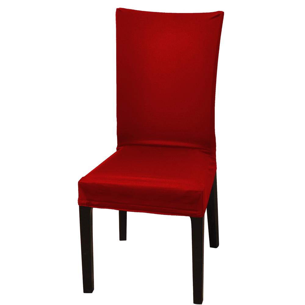 【格藍傢飾】時尚素雅萬用魔術椅套-亮麗紅-6入