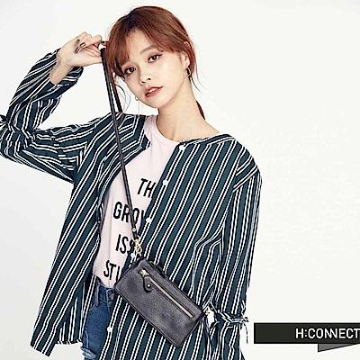 H:CONNECT 韓國品牌 質感皮革收納包-黑