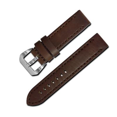 Watchband / 經典復刻時尚指標加厚版牛皮錶帶 深咖啡色