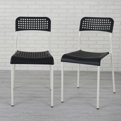 Homelike 安迪士餐椅-二入組(雅典黑)-43x47x79cm