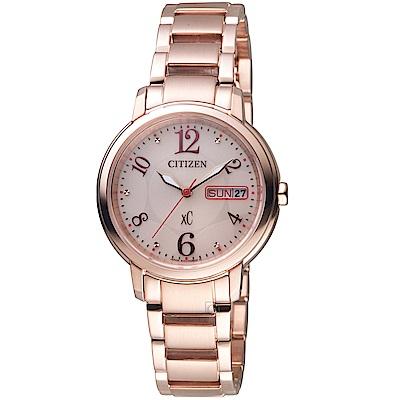 CITIZEN星辰xC系列魅力綻放光動能腕錶(EW2423-52W)-32mm