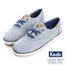 Keds 菱形格紋綁帶休閒鞋(For Kids)-藍色