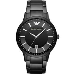 Emporio Armani 剛黑低調時尚腕錶(AR11079)-鍍黑/43mm