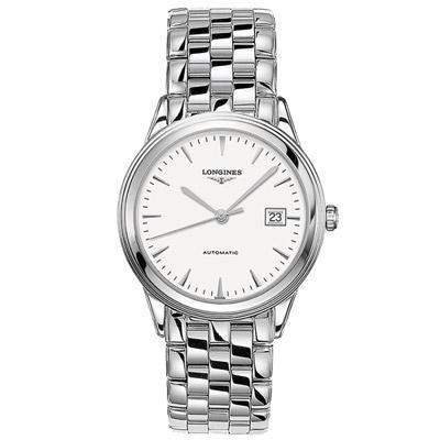 LONGINES 浪琴 軍旗系列簡約紳士腕錶-銀色/38.5mm