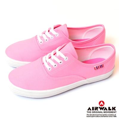 【美國 AIRWALK】繽紛一夏甜心女孩帆布鞋-女(輕粉紅)