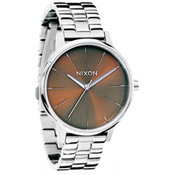 NIXON kensington 極簡現代時尚腕錶-咖啡/37mm