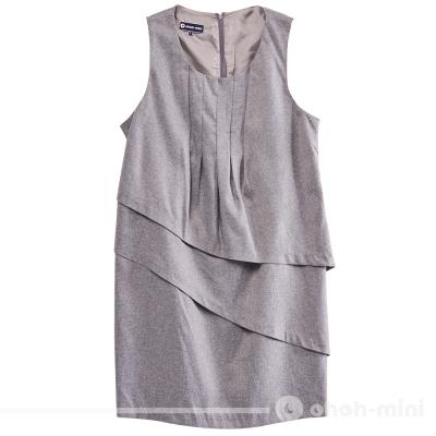 【ohoh-mini 孕婦裝】不對稱雙層裙襬背心洋裝