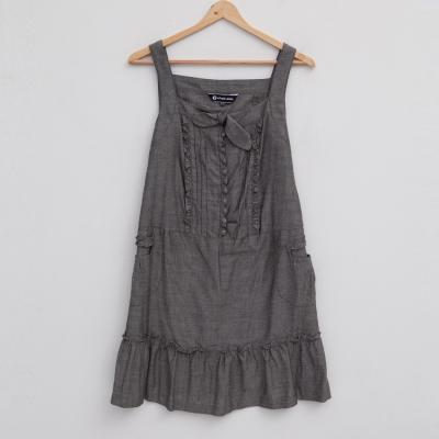 ohoh-mini孕婦裝吊帶平口荷葉邊孕婦背心洋裝