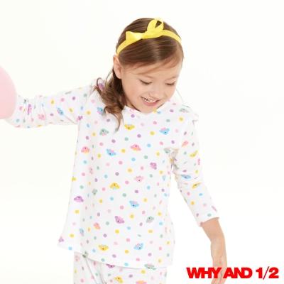 WHY AND 1/2彩色點點家居T恤 11Y~12Y 白色