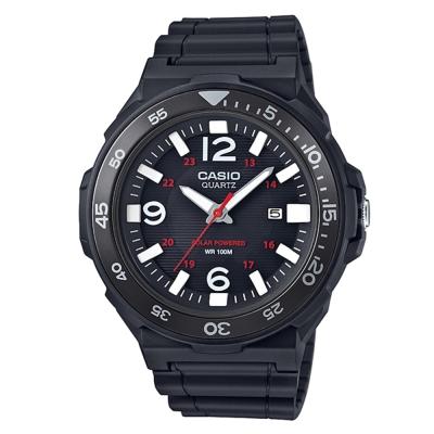 CASIO潛水運動風格環保太陽能盤休閒錶(MRW-S310H-1B)黑框/47.9mm