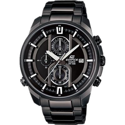 EDIFICE 多層次三眼計時賽車錶(EFR-533BK-1A)-黑/44.6mm