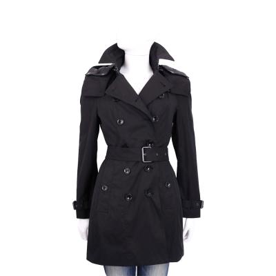 BURBERRY 黑色連帽風衣外套(附保暖內裡/展示品)