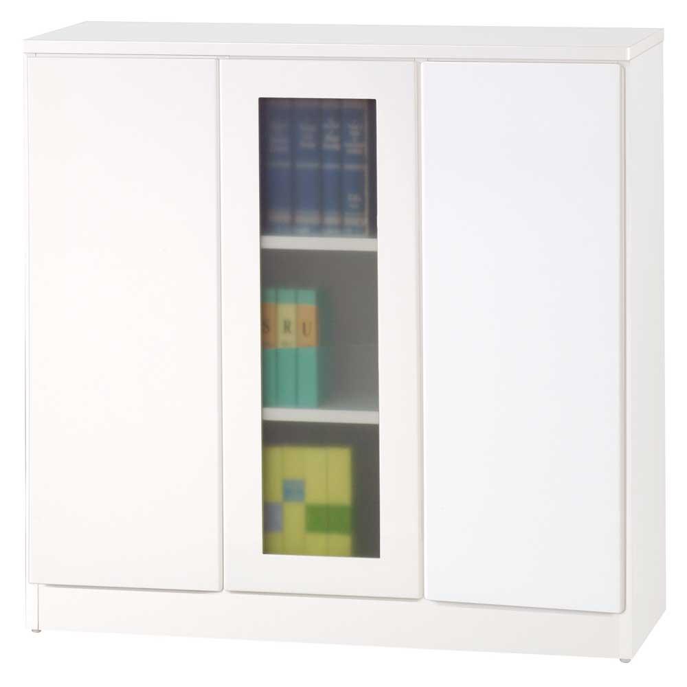 《夢想家》威尼斯3尺單玻璃門兩密門鏡面PU書櫃