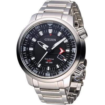 CITIZEN PROMASTER 全方位休閒時尚運動錶(BJ7081-51E)-黑/46mm