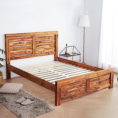 H&D 奧瑞鄉村系列實木5尺雙人床架 (寬158X深200X高110cm)