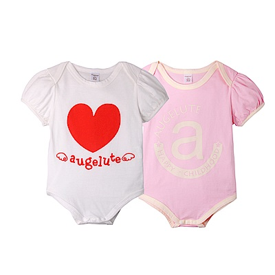 baby童衣 嬰兒短袖連身包屁衣 2件組 42111