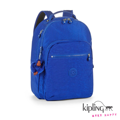 Kipling-都市寶藍紋後背包