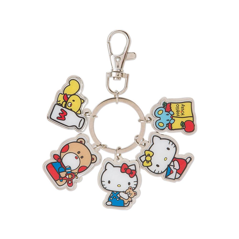 Sanrio HELLO KITTY金屬造型鐵牌鑰匙圈(好朋友)